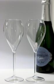 Okrossbara champagneglas -