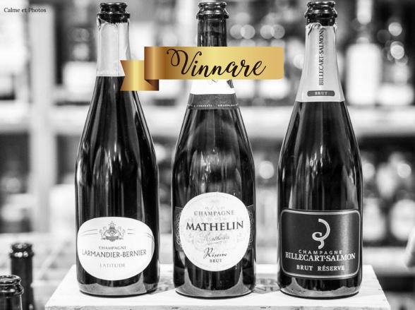Champagne Mathelin Brut Réserve vann första pris i blindprovning.