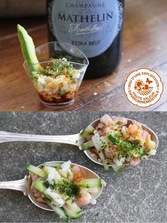 Champagne Mathelin Extra Brut passar mycket bra till asiastiska rätter som exempelvis sushi.