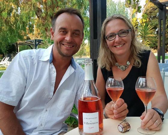 Vinmakarna Cyrille och Laurence Michez.