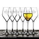 Konstfoto med champagneglas - 400x300 mm