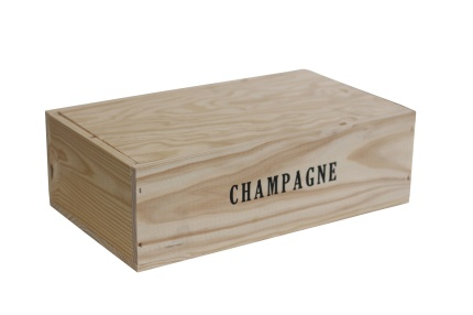 Champagnelåda i trä | 2 flaskor