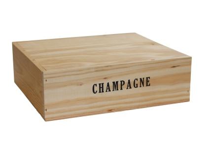 Champagnelåda i trä | 3 flaskor -