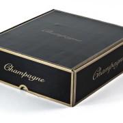 Champagnelåda i wellpapp, svart