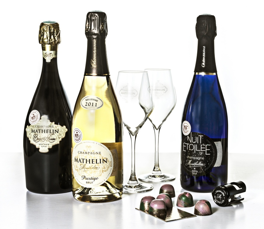 Bonnebox Premium med premiumchampagne från Champagne Mathelin