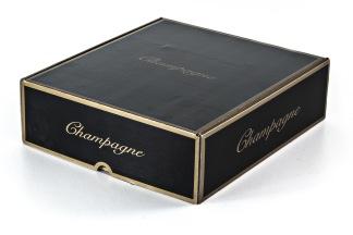 Champagnelåda i wellpapp, svart -