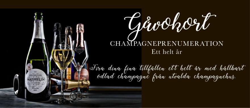 Champagnepresentkort – Gåvokort.