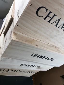 Champagnelådor i trä
