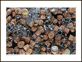 Champagne tavla – Champagnekorkar och -grimmor - 40 x 30 cm