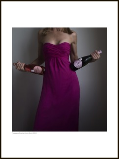 Champagne tavla – Pink Lady - 30 x 40 cm