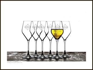 Champagne tavla – Glasses - 40 x 30 cm