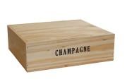 Champagnelåda i trä | 3 flaskor