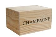 Champagnelåda i trä | 6 flaskor