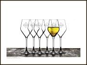 Champagne tavla – Champagneglas i stilstudie