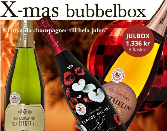 Champagnelåda till jul från Bonnebox.