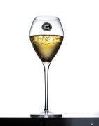 Champagneglas, tulpanform