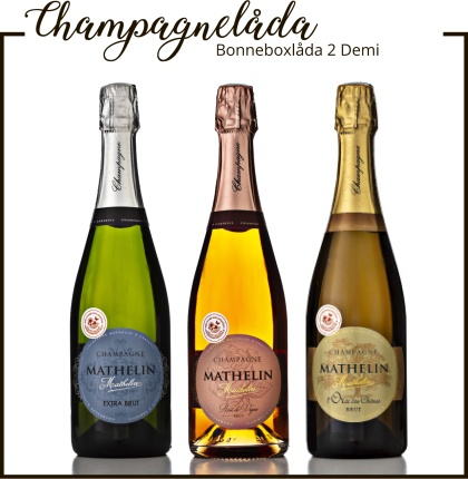 Champagne Mathelin BonneBoxlåda 2 Demi