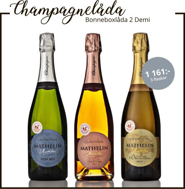 Champagnelåda till midsommar