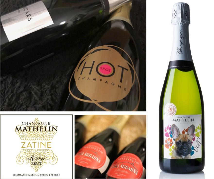 Inspiration till din egen champagne och champagneetikettt.