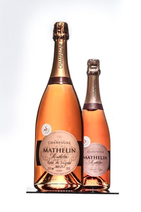 Champagne Mathelin Rosé de Saignée Brut MAGNUM