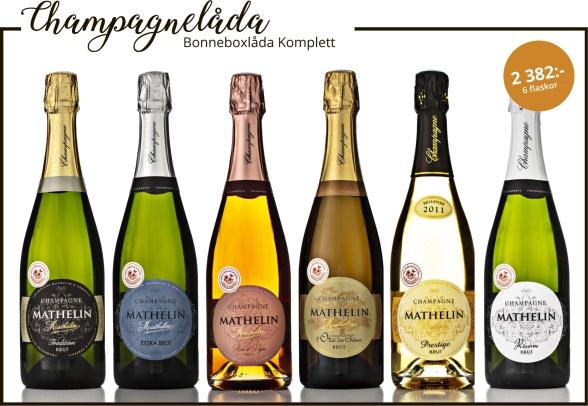 Champagne Mathelin Bonneboxlåda Komplett