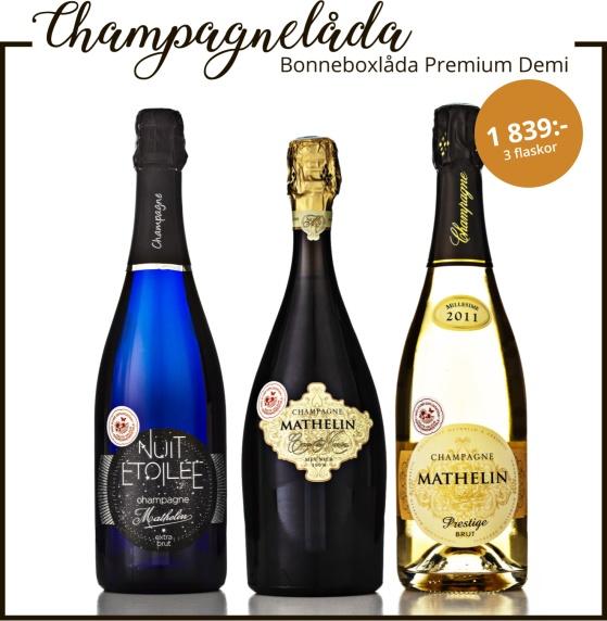 Champagne Mathelin Bonneboxlåda Premium Demi