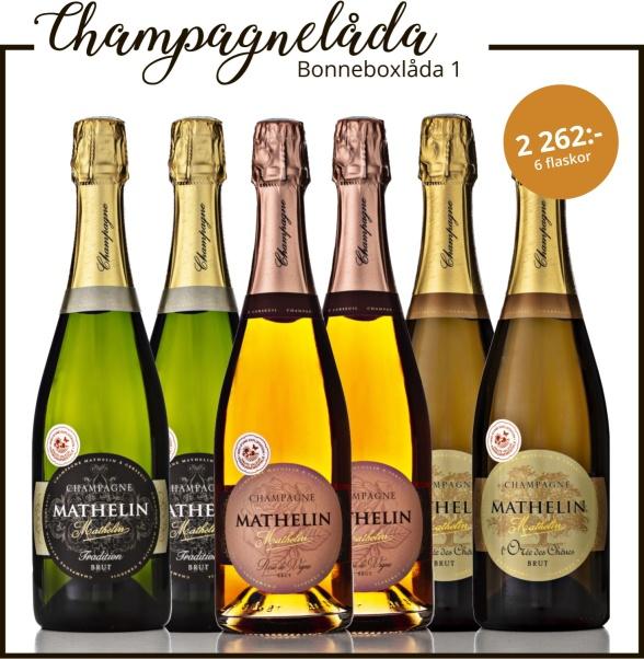 Bonneboxlåda 1 med champagne