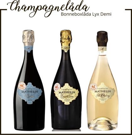 Champagne Mathelin Bonneboxlåda Lyx Demi