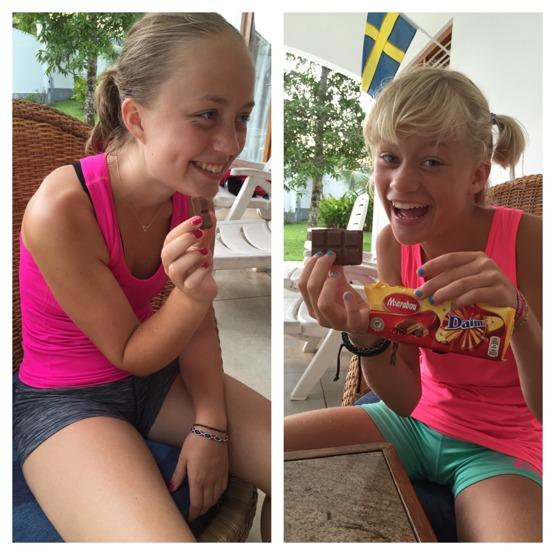 Så glad blir man av choklad frånSverige!