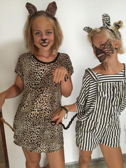 Majaleopard och Stinazebra.