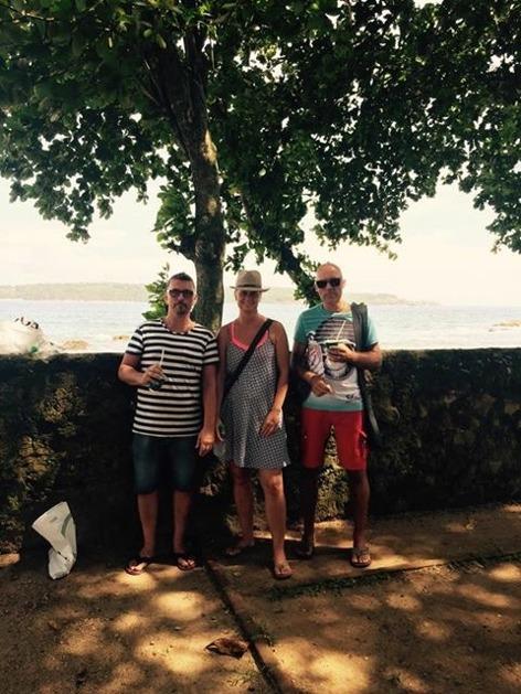 Sightseeing med turisterna