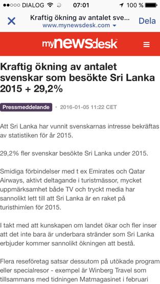 Fler svenskar hittar till paradisön!