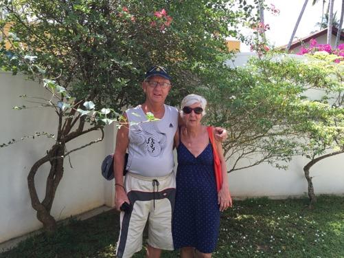 Finaste besökarna på länge...Bo och Karin, båda över 75 år! Vilka globetrotters!