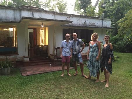 Laurent, Ubbe, jag och Binia.