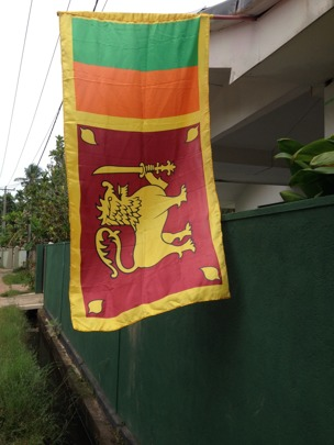 Sri Lankas flagga.