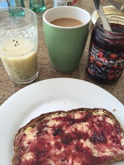 Underbar helgfrukost!