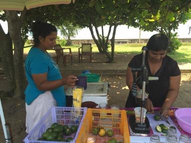Juiceförsäljning a la Sri Lanka!