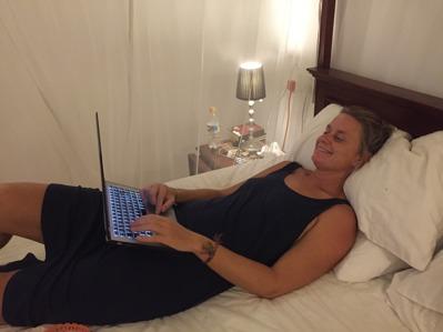 Bloggande från sängen går också bra!