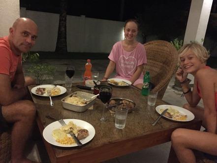 En skön middag med familjen!