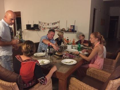 Middag med goda vänner!