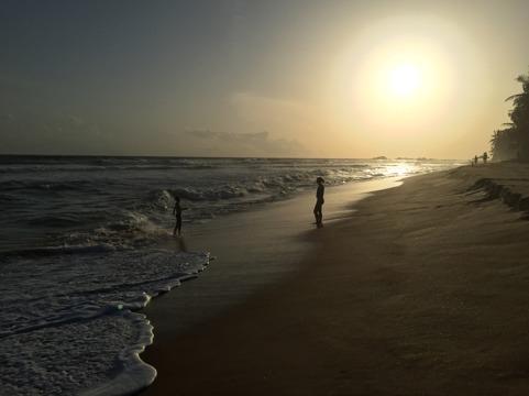 Vackra stranden i Hikkaduwa...