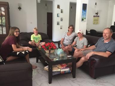 Ingeborg med sin trevliga familj.