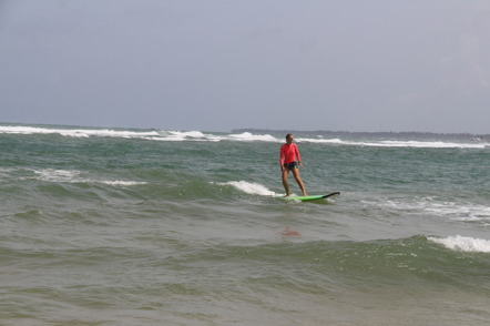 Maja i surfartagen!