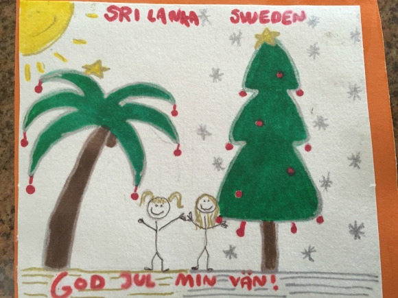 God Jul från oss på Sri Lanka!