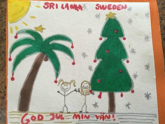 God Jul från oss på Sri Lanka!