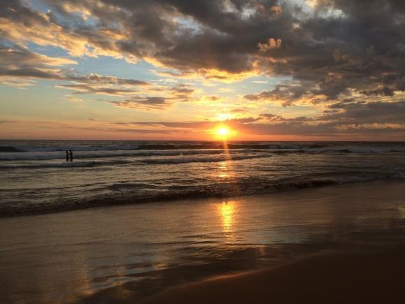 Solnedgång i Hikkaduwa.