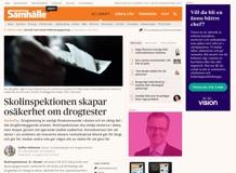 Skolinspektionen skapar osäkerhet om drogtester