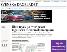 Ökat tryck på Sverige att legalisera medicinsk marijuana