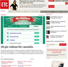 SR gör reklam för cannabis