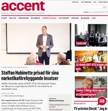 Staffan Hübinette prisad för sina narkotikaförebyggande insatser